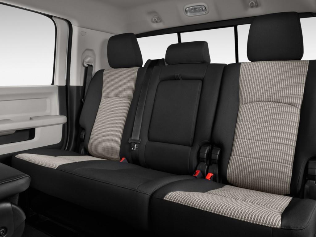 "Image: 2012 Ram 2500 2WD Mega Cab 160.5"" SLT Rear Seats ..."