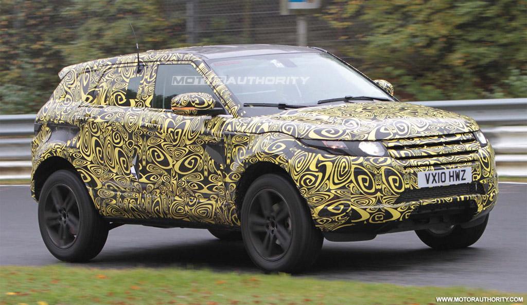 Spy Shots 2012 Range Rover Evoque Five Door