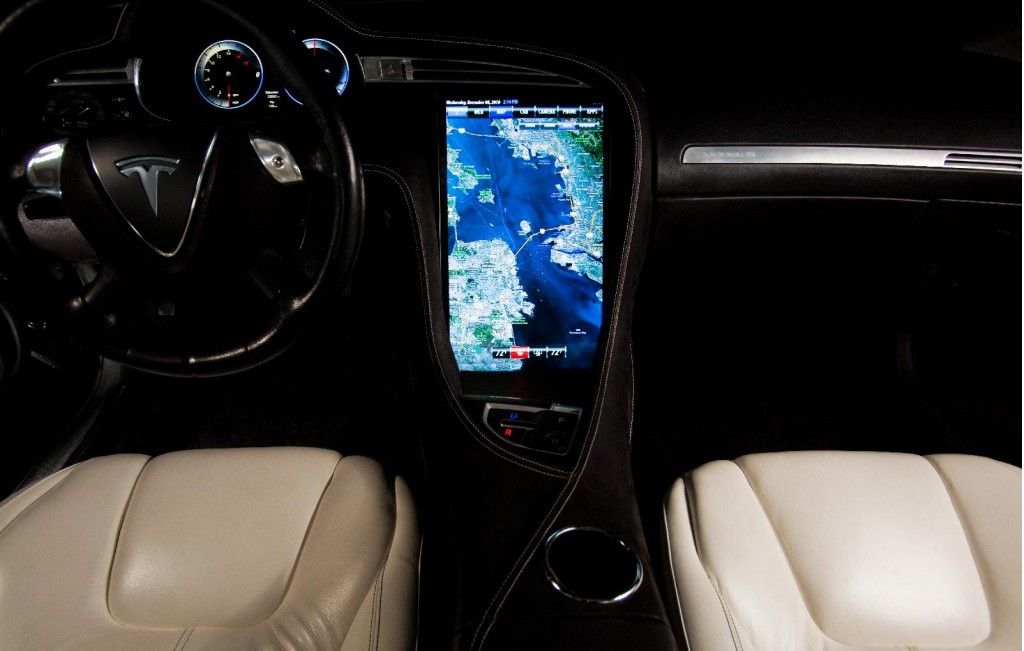 Image Tesla Model S Interior Prototype Size X - 2012 tesla model s