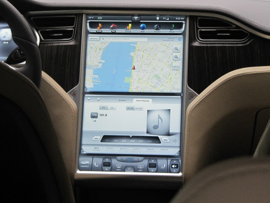 2012 Tesla Model S, brief test drive, New York City, July 2012
