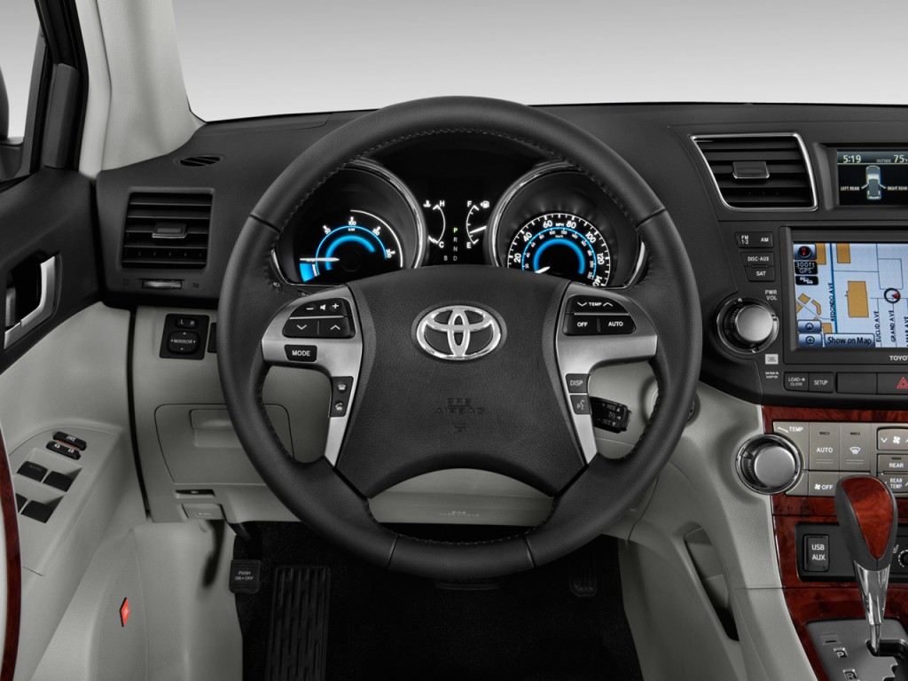2012 toyota highlander hybrid 4wd 4 door limited natl steering wheel