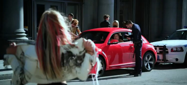 Britney Spears Flashes The 2012 Volkswagen New Beetle: Video