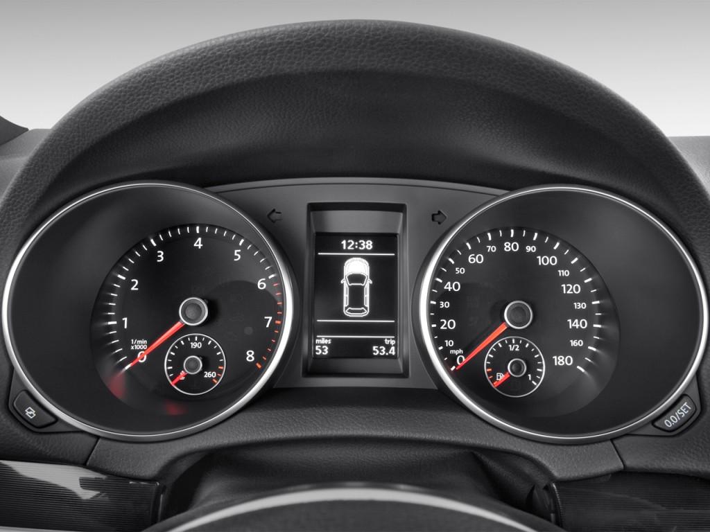 Image: 2012 Volkswagen GTI 4-door HB DSG PZEV Instrument Cluster, size: 1024 x 768, type: gif ...