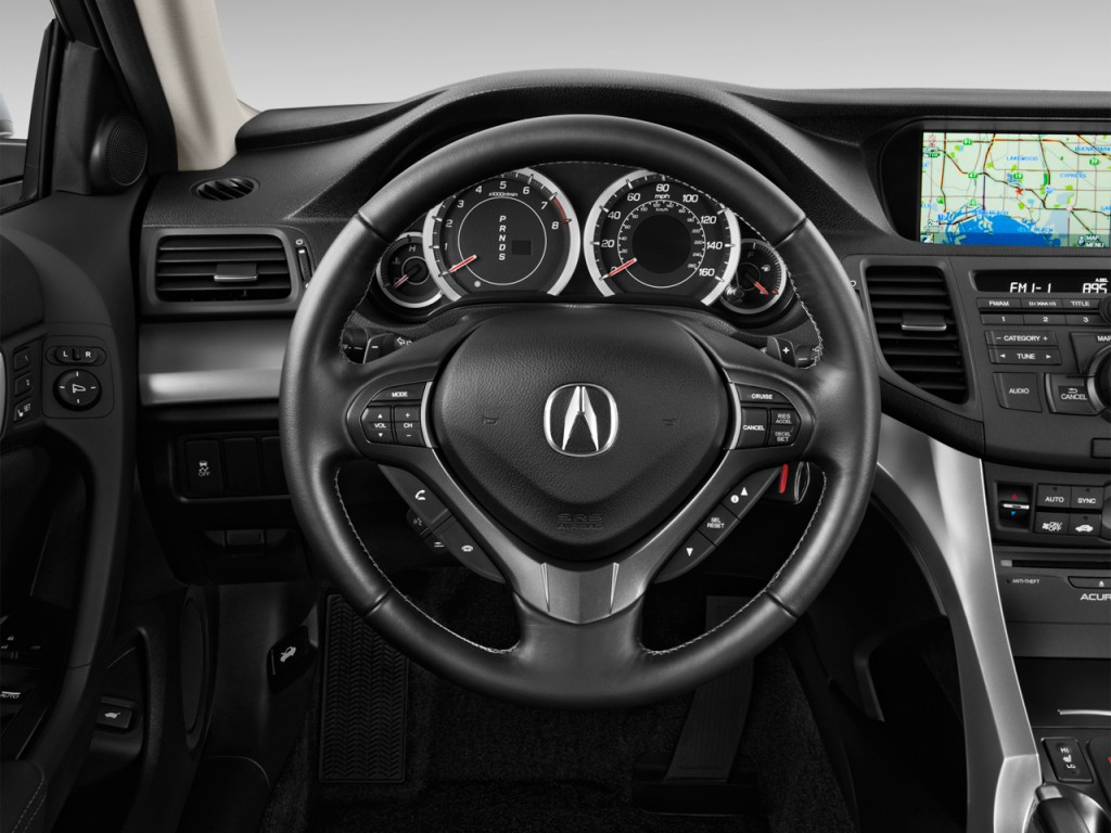 image 2013 acura tsx 4 door sedan i4 auto steering wheel. Black Bedroom Furniture Sets. Home Design Ideas
