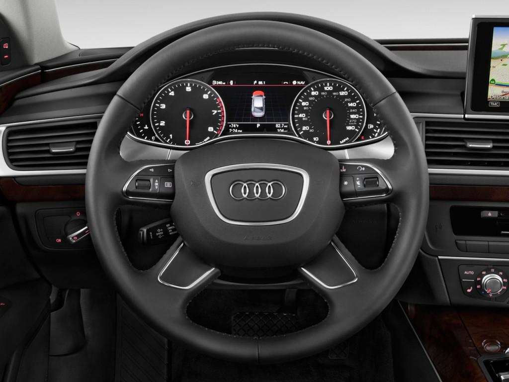 Image: 2013 Audi A7 4-door HB quattro 3.0 Premium Steering Wheel, size: 1024 x 768, type: gif ...