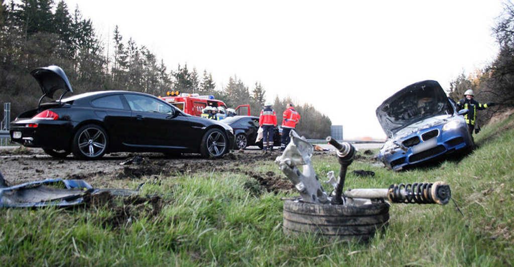 2013 BMW M5 Destroyed After Autobahn Crash
