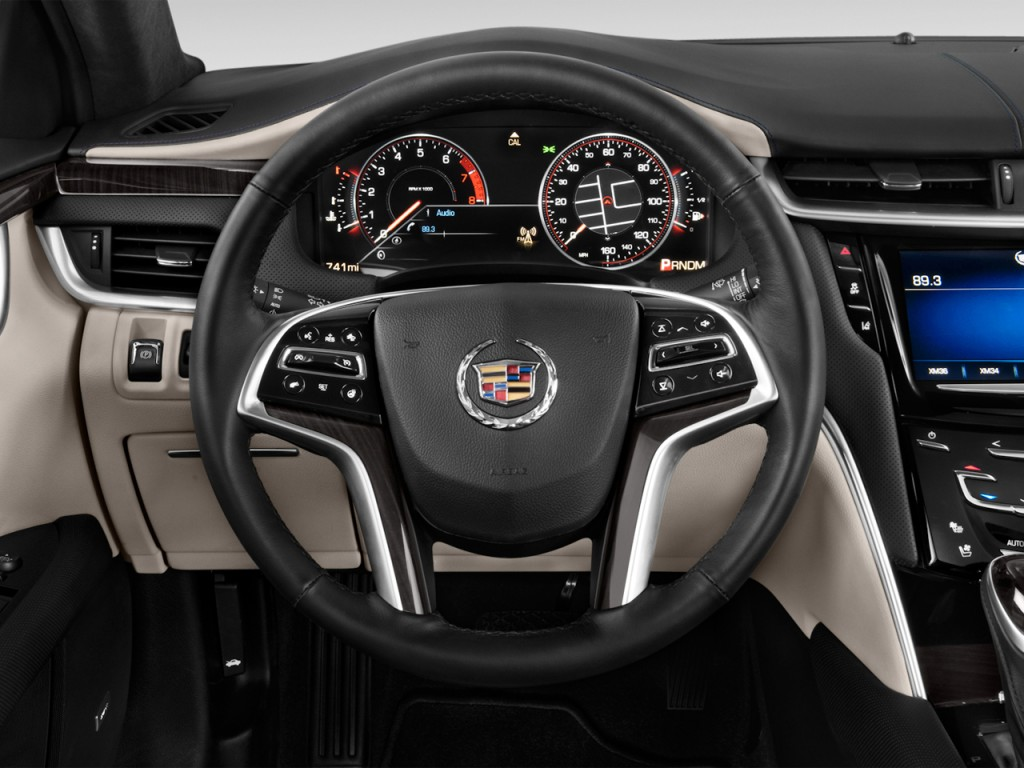 Image: 2013 Cadillac XTS 4-door Sedan Platinum FWD Steering Wheel, size: 1024 x 768, type: gif ...