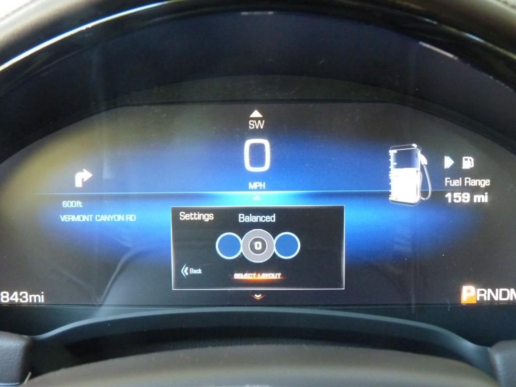 CUE interface, in 2013 Cadillac XTS