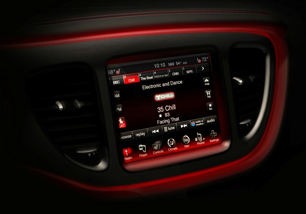 2013 Dodge Dart interior teasers