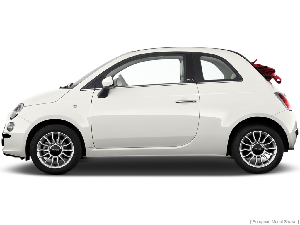 Image: 2013 FIAT 500 2-door Convertible Lounge Side ...