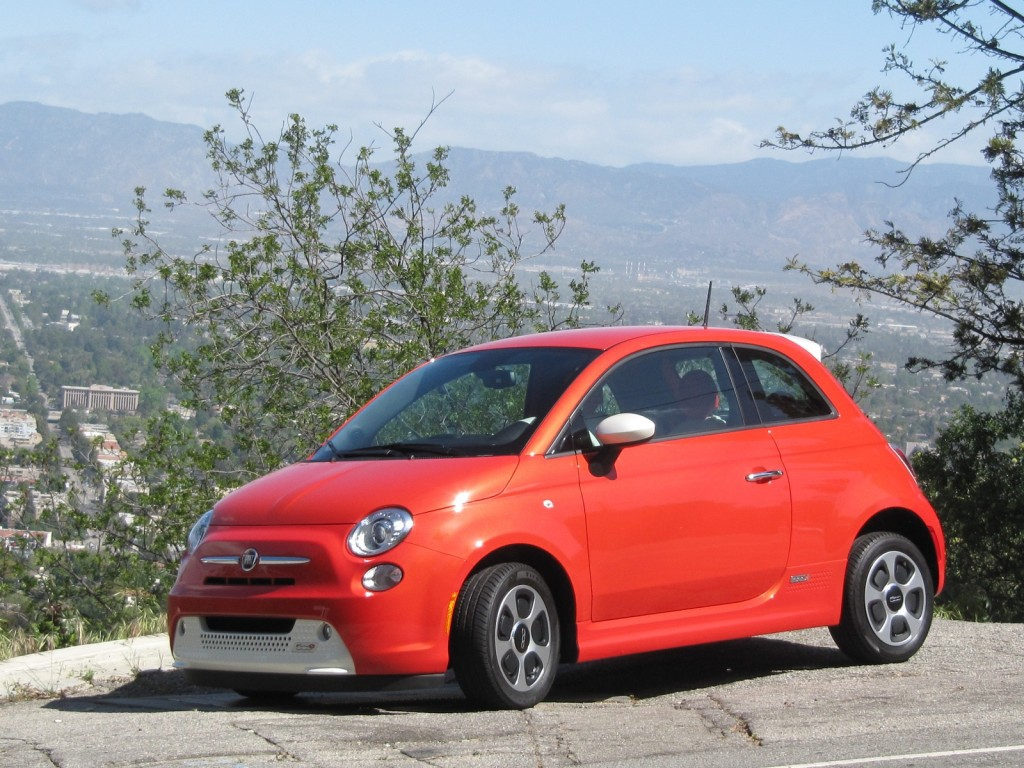 2013 Fiat 500e electric car, Los Angeles drive event, April 2013