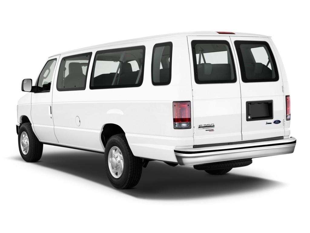 2013 ford econoline wagon e 350 super duty xl angular rear exterior view