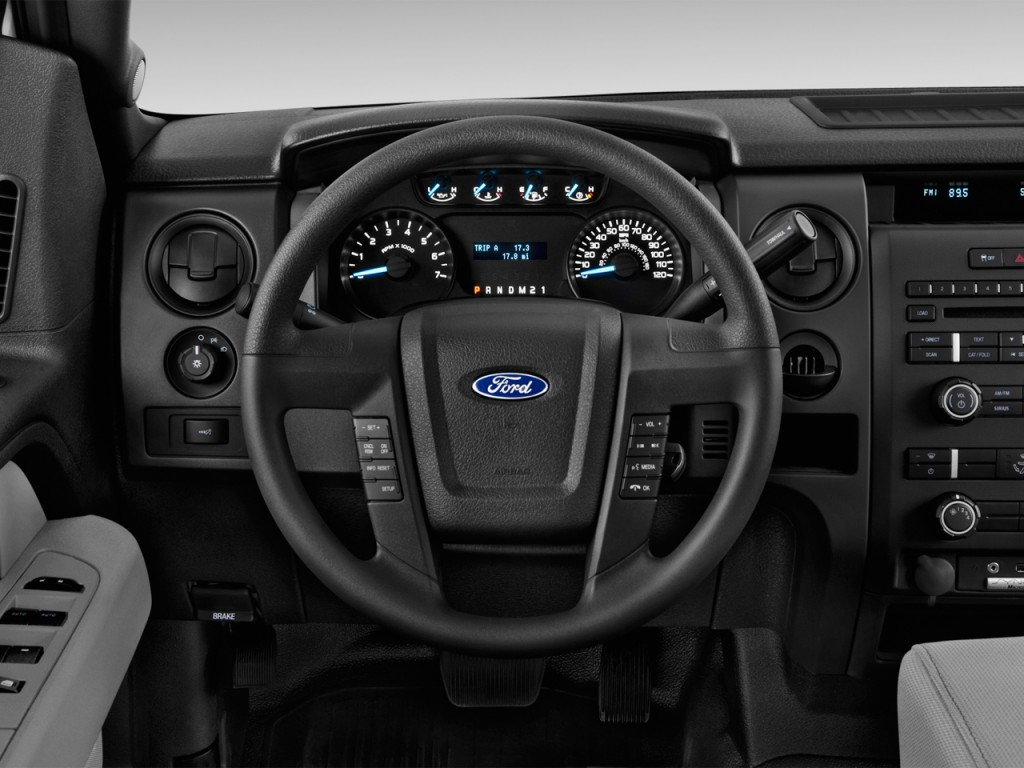 """Ford Transit 150 >> Image: 2013 Ford F-150 2WD SuperCab 145"""" XL Steering Wheel, size: 1024 x 768, type: gif, posted ..."""