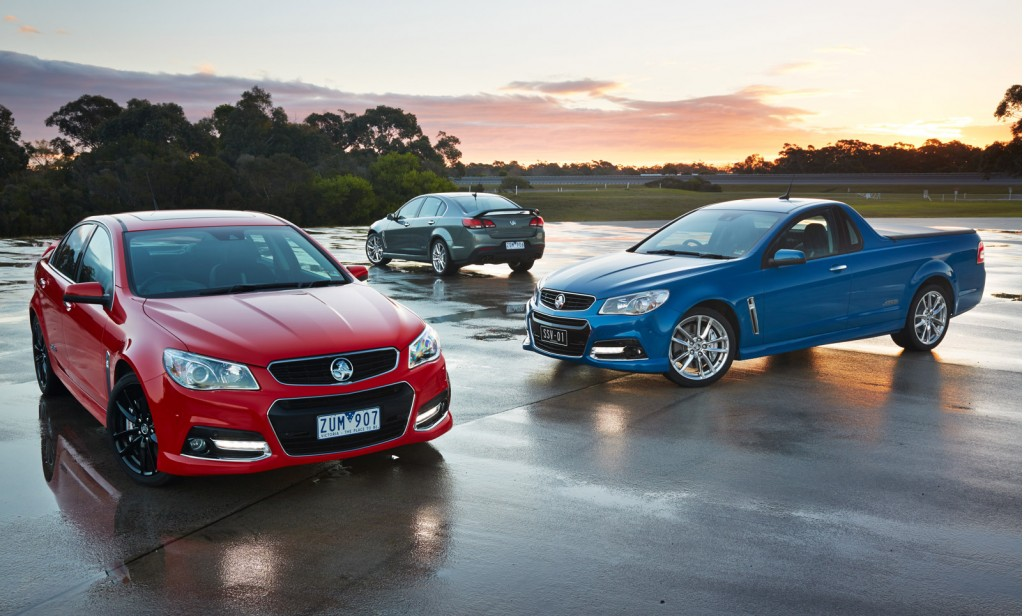 2013 Holden Commodore range