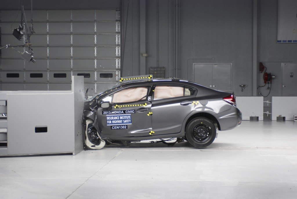 2013 Honda Civic  -  GOOD in IIHS small overlap frontal test