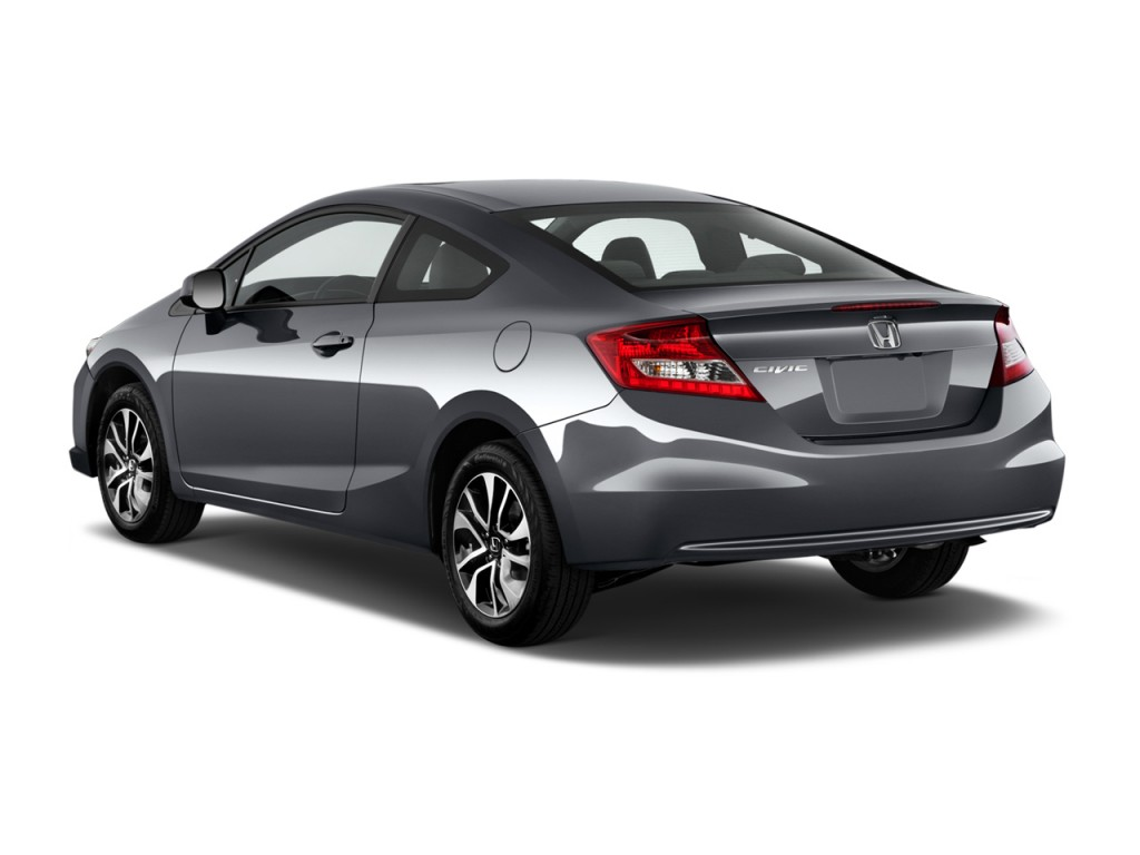 Image 2013 Honda Civic Coupe 2 Door Auto Ex Angular Rear Exterior View Size 1024 X 768 Type
