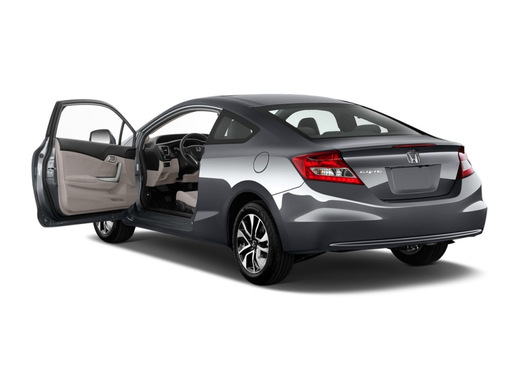image 2013 honda civic coupe 2 door auto ex open doors. Black Bedroom Furniture Sets. Home Design Ideas