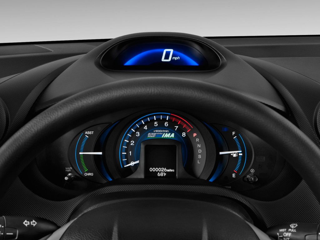 Green Car Reports >> Image: 2013 Honda Insight 5dr CVT Instrument Cluster, size ...