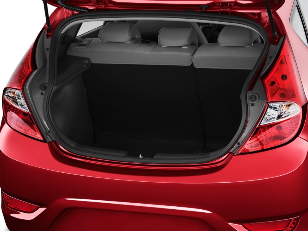 Image 2013 Hyundai Accent 5dr Hb Auto Se Trunk Size