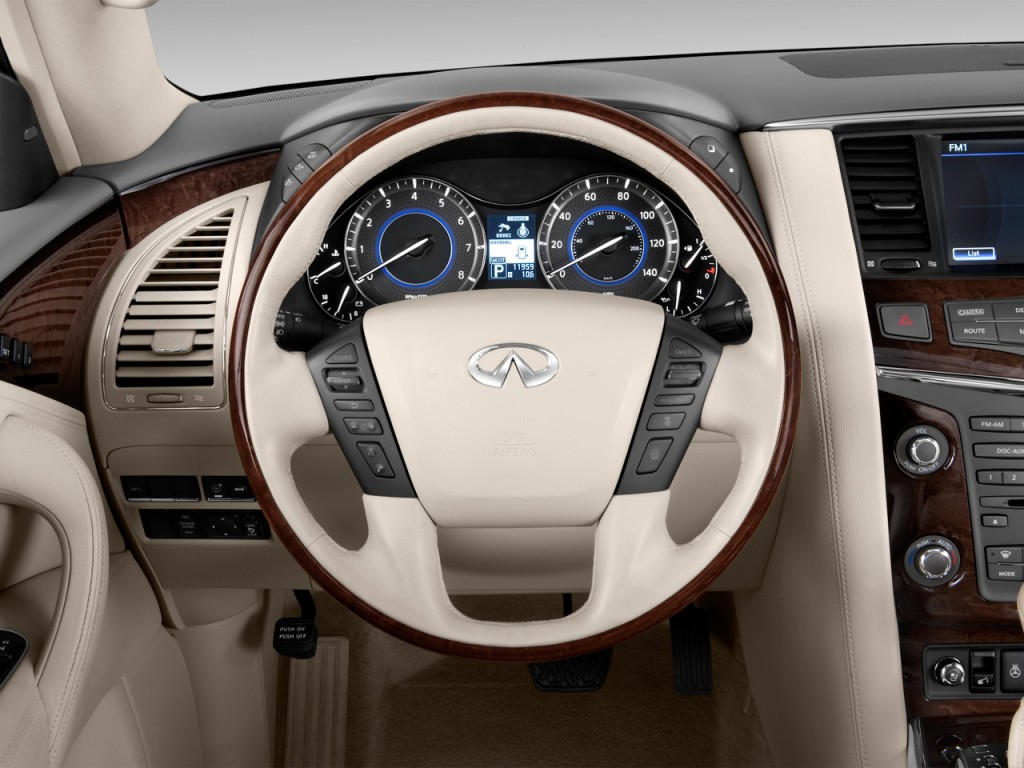 Image: 2013 Infiniti QX56 2WD 4-door Steering Wheel, size: 1024 x 768, type: gif, posted on ...