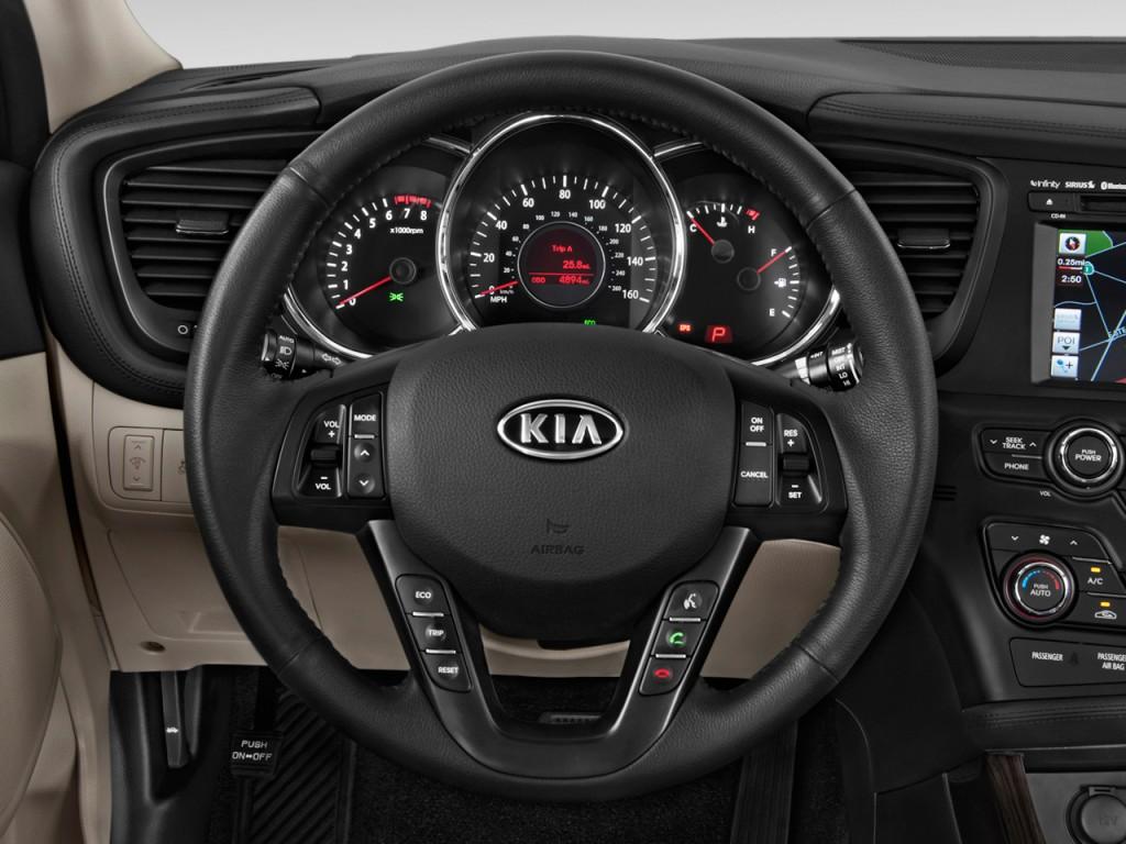 2012 Kia Optima For Sale >> Image: 2013 Kia Optima 4-door Sedan EX Steering Wheel, size: 1024 x 768, type: gif, posted on ...