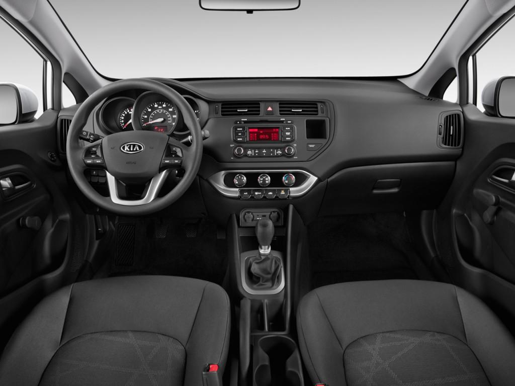 image 2013 kia rio 4 door sedan auto lx dashboard size. Black Bedroom Furniture Sets. Home Design Ideas