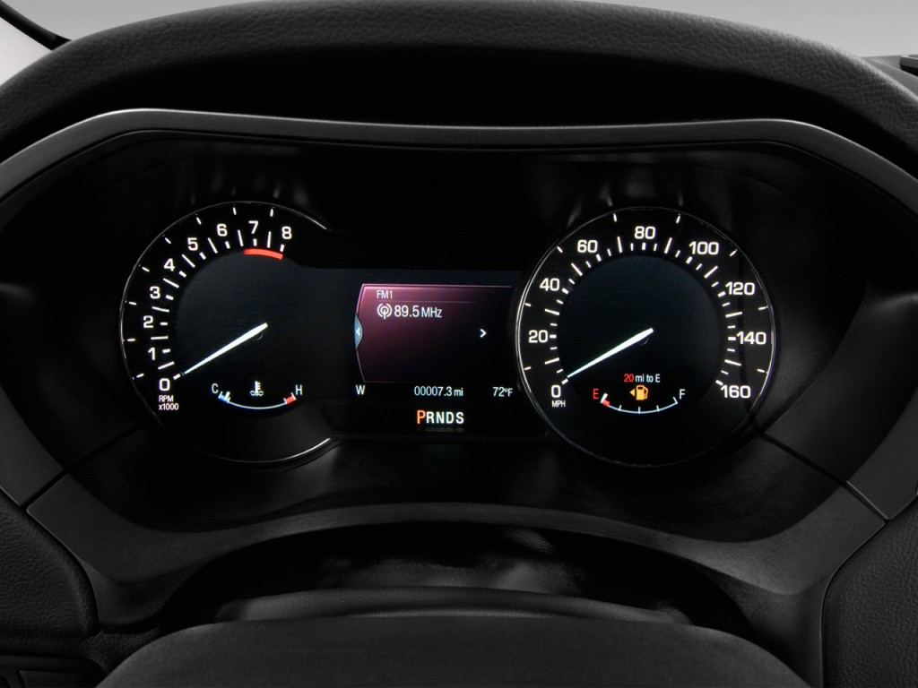 Image: 2013 Lincoln MKZ 4-door Sedan FWD Instrument ...