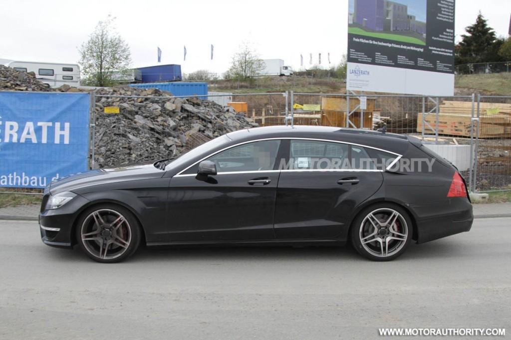 2013 Mercedes-Benz CLS63 AMG Shooting Brake spy shots