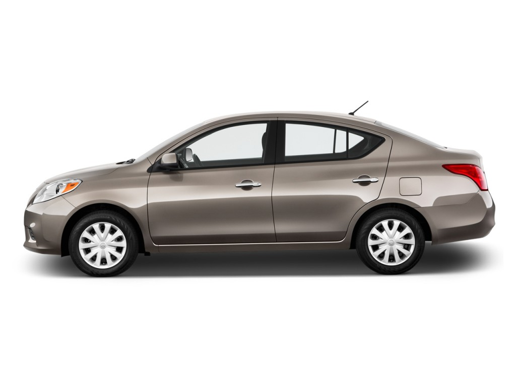 2013 nissan versa 4 door sedan cvt 1 6 sv side exterior view