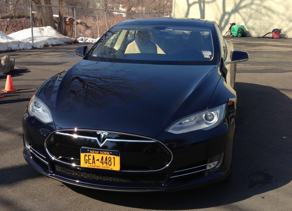 2013 Tesla Model S before DC-to-Boston road trip, Feb 2013 [photo: Aaron Schildkraut]