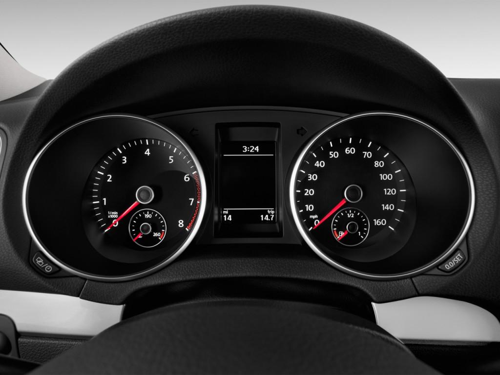 Image: 2013 Volkswagen Golf R 2-door HB Instrument Cluster ...