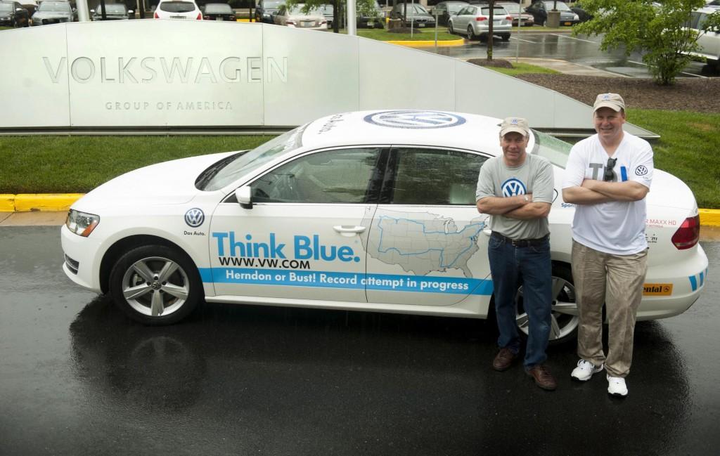 2013 Volkswagen Passat TDI fuel economy world record attempt