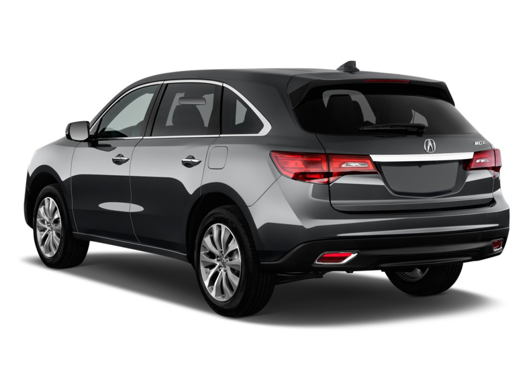 Image 2014 acura mdx fwd 4 door tech pkg angular rear for Rear exterior door