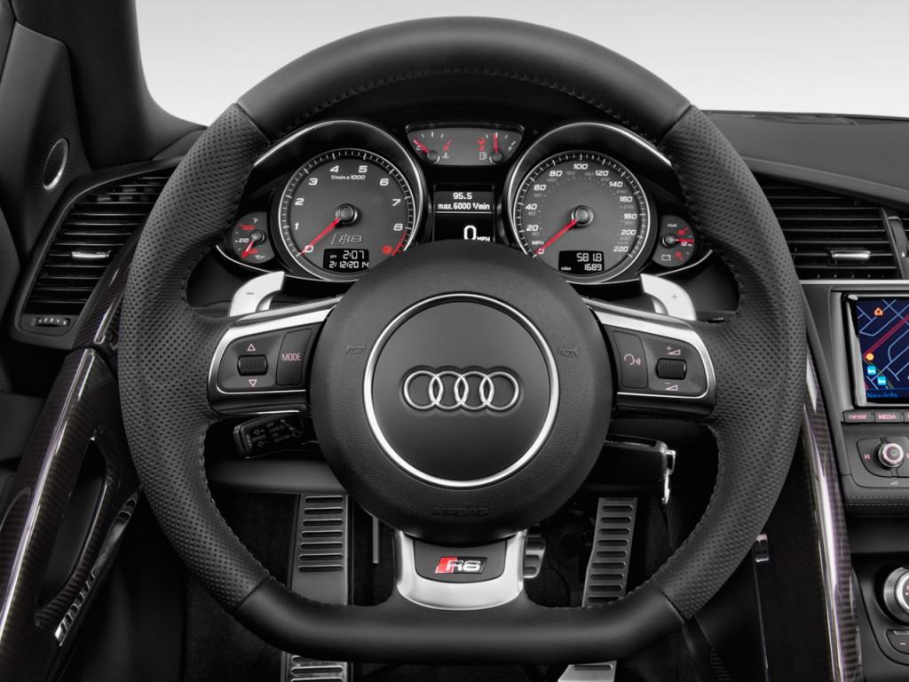 Image 2014 Audi R8 2 Door Convertible Man Quattro Spyder V8 Steering Wheel Size 1024 X 768