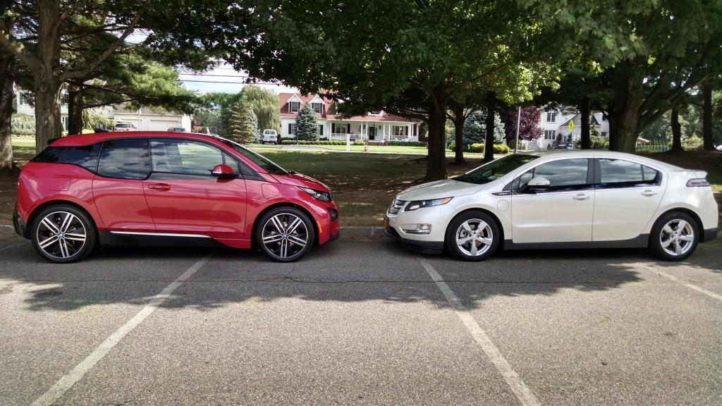 2014 BMW i3 REx vs Chevrolet Volt comparison  [photos: David Noland, Tom Moloughney]
