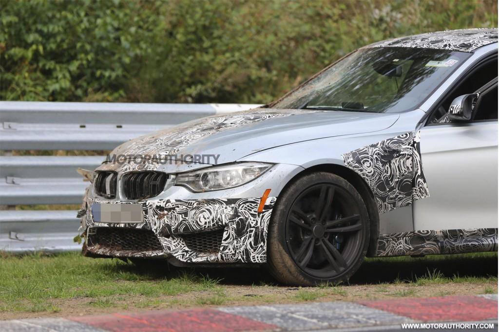 2014 BMW M3 Sedan crashed on the Nürburgring