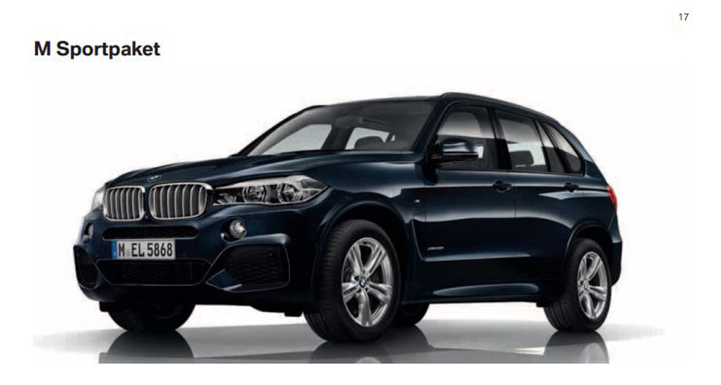 First Look At 2014 BMW X5 M Sport Package And X5 M50d