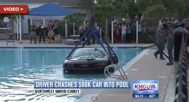 Teen Drives Chevrolet Camaro Zl1 Into Texas Pool Video