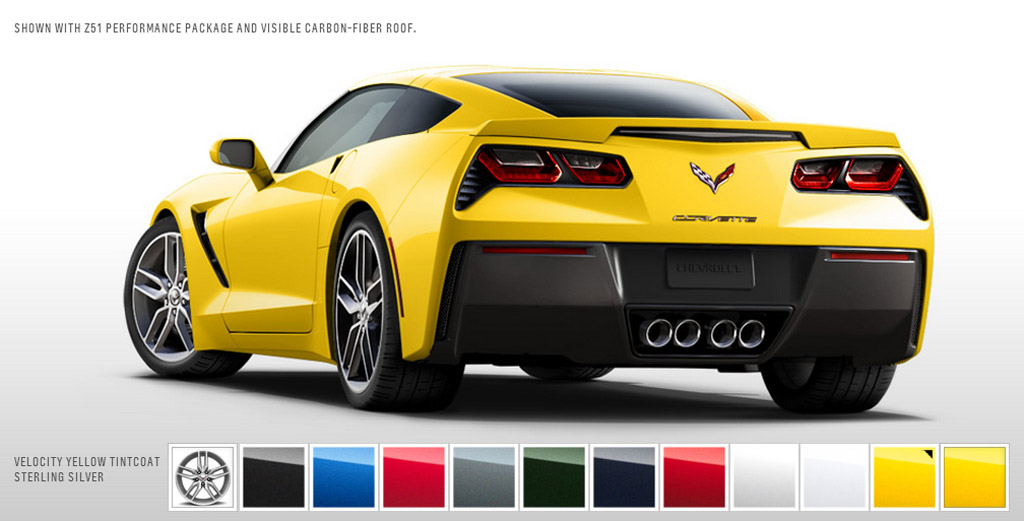 2014 Chevrolet Corvette Stingray Color Configurator Goes ...