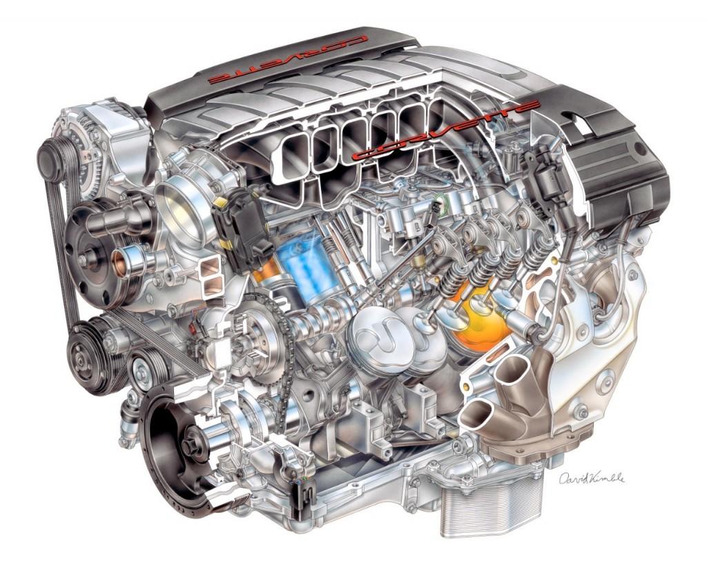 2014 Chevrolet Corvette Stingray LT1 engine