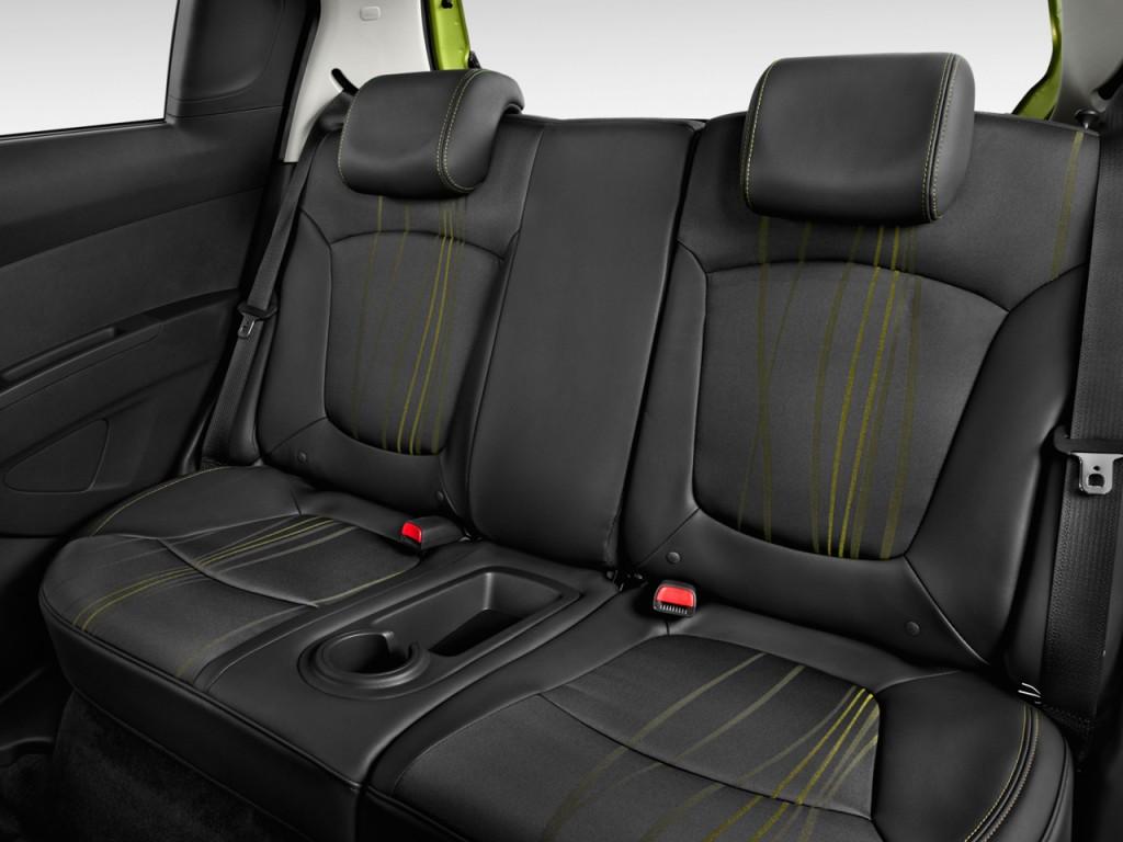 Image: 2014 Chevrolet Spark 5dr HB CVT LS Rear Seats, size ...