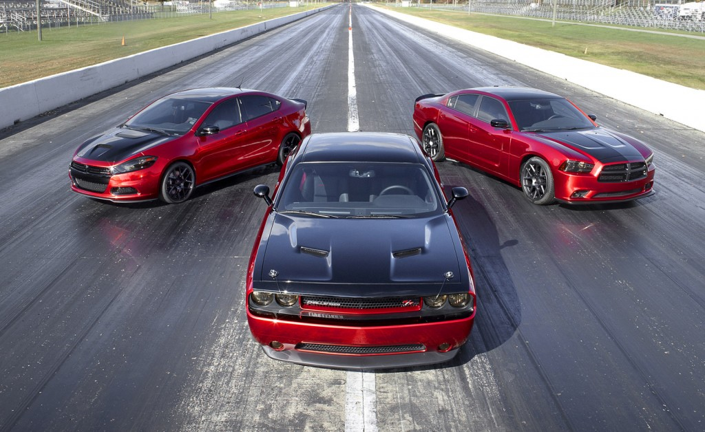 2014 Dodge Dart, Challenger and Charger equipped with Scat Packages