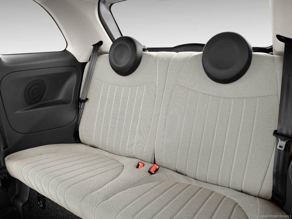 Image: 2014 FIAT 500 2-door HB Lounge Rear Seats, size ...