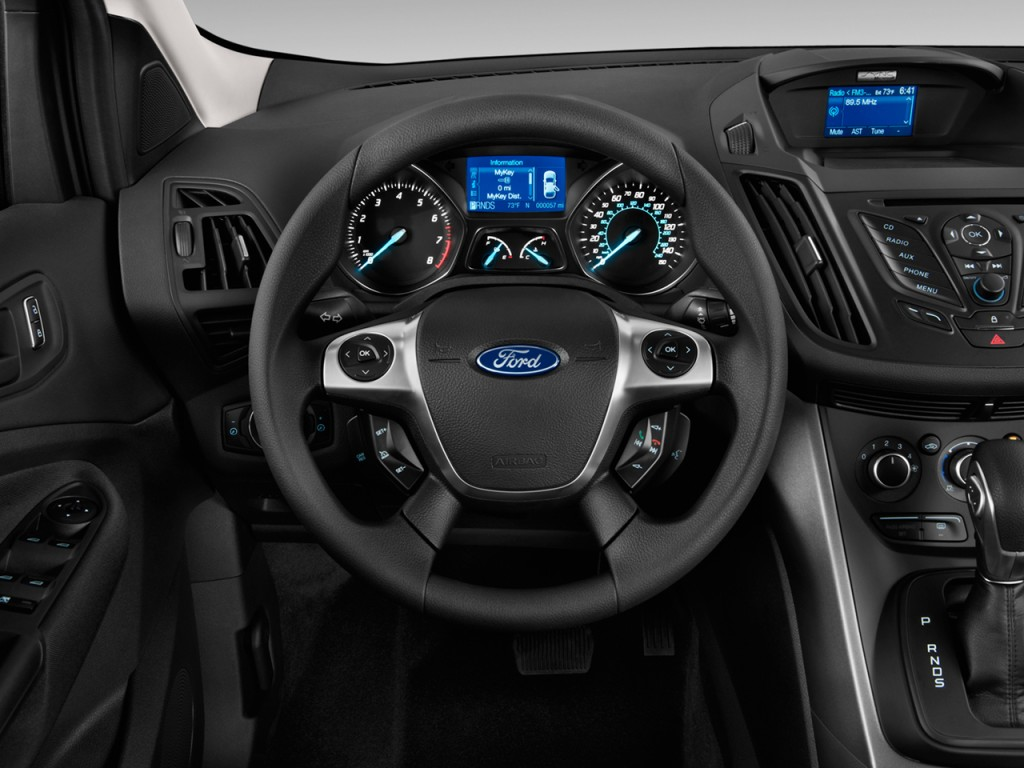 2012 Ford Escape Black Rims >> Image: 2014 Ford Escape FWD 4-door S Steering Wheel, size: 1024 x 768, type: gif, posted on ...