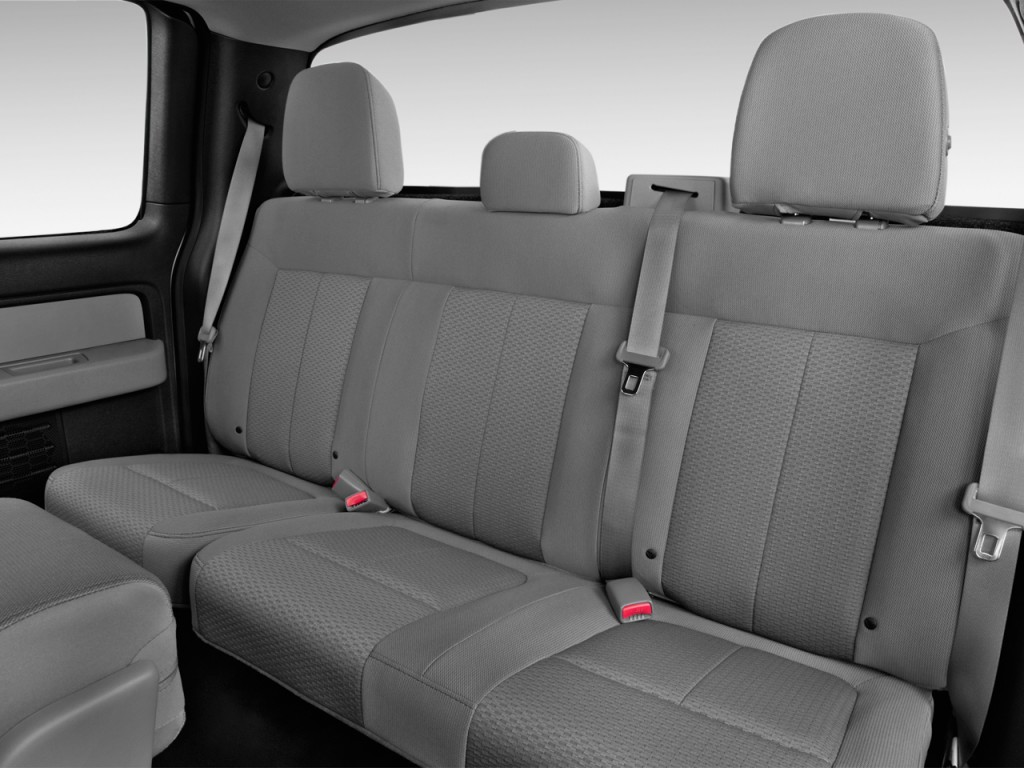"""Image: 2014 Ford F-150 2WD SuperCab 145"""" XL Rear Seats ..."""