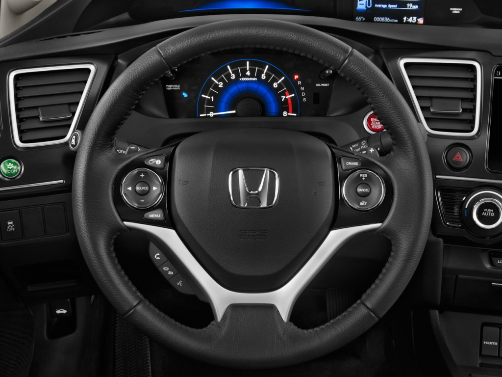 image 2014 honda civic coupe 2 door cvt ex l steering. Black Bedroom Furniture Sets. Home Design Ideas