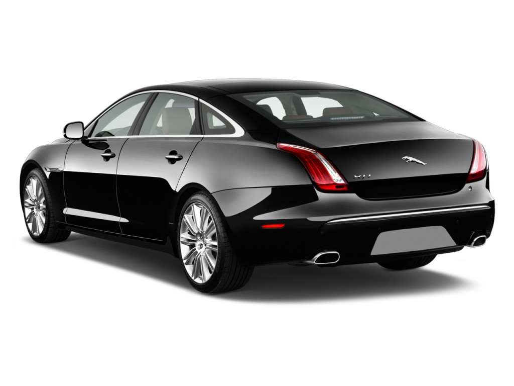 Beautiful 2014 Jaguar XJ 4 Door Sedan XJL Supercharged RWD Angular Rear Exterior View