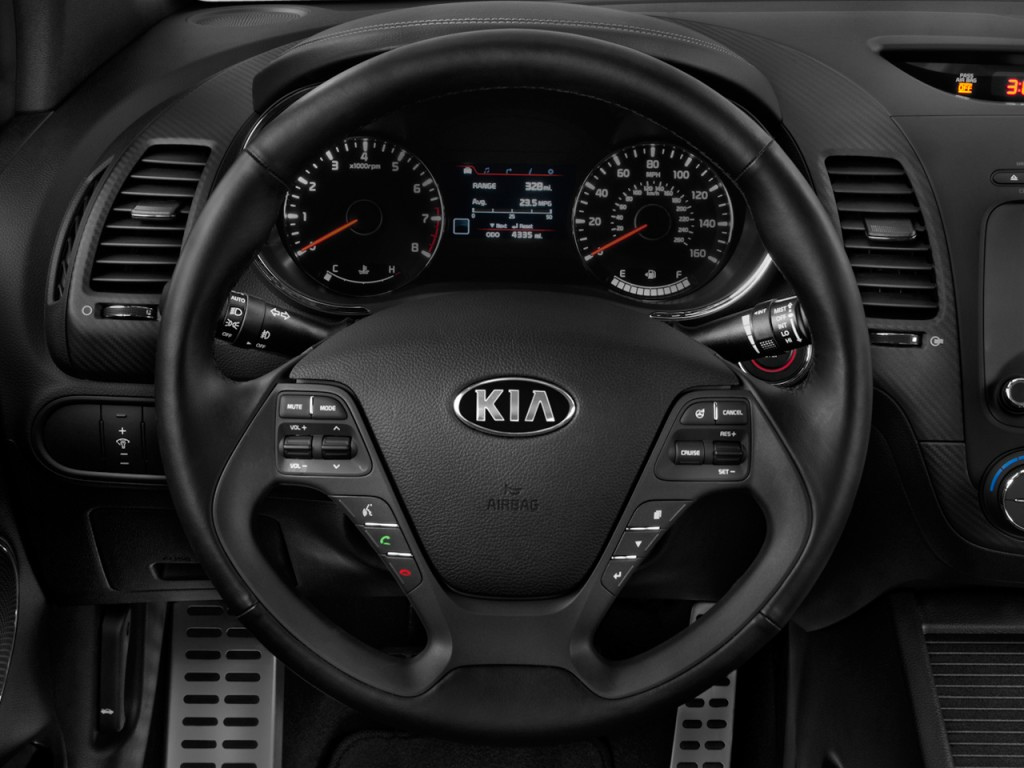 image 2014 kia forte 2 door coupe auto sx steering wheel. Black Bedroom Furniture Sets. Home Design Ideas
