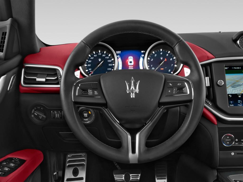 Maserati Ghibli Price >> Image: 2014 Maserati Ghibli 4-door Sedan Steering Wheel, size: 1024 x 768, type: gif, posted on ...
