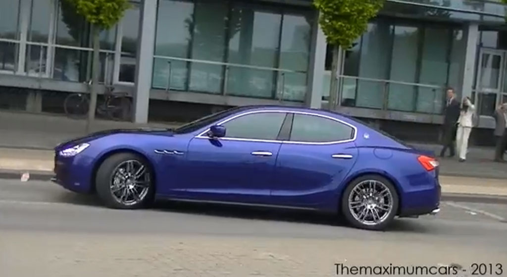2014 Maserati Ghibli Spotted In Public: Video